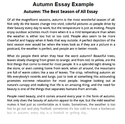 essay on autumn season