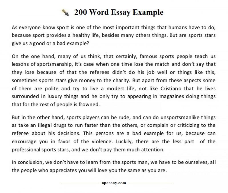 200 words essay