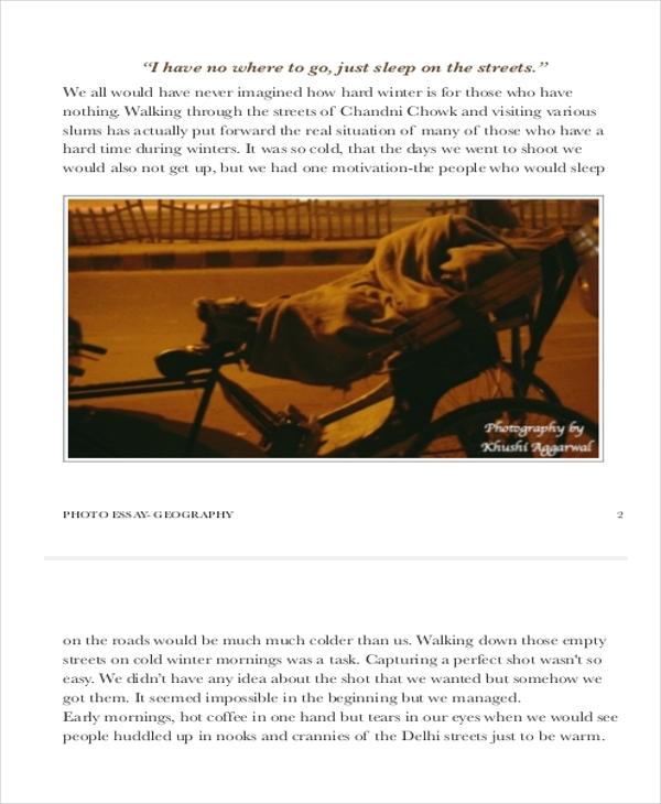 photo essay template